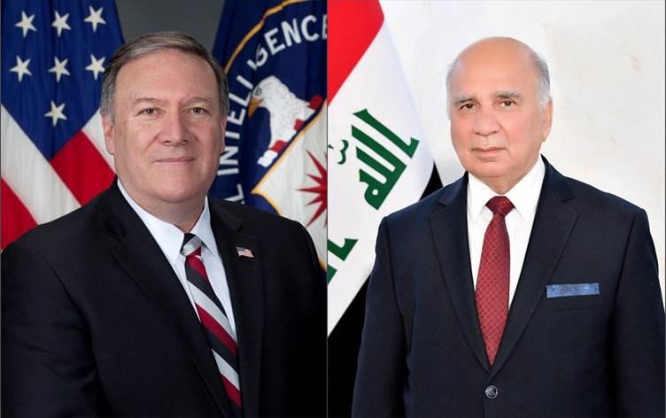"""""""بومبيو"""" وَ""""حسين"""" يُناقشان سحب السفارة الأميركية من بغداد: ما النتيجَة؟"""