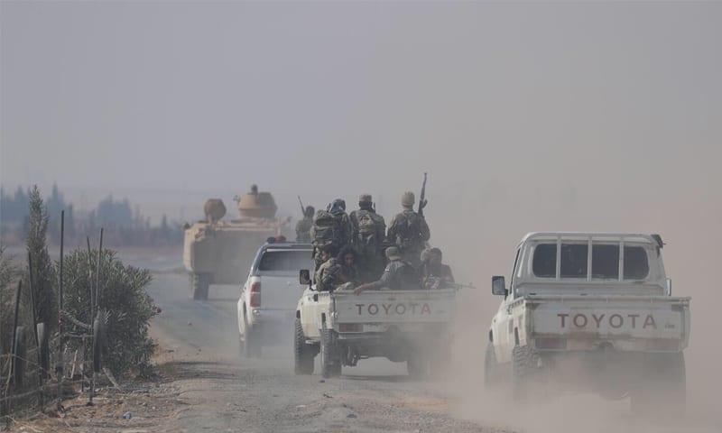 (فيديو) اشتباكات محتدمة بين فصائل «الجيش الوطني» شمالي الحسكة