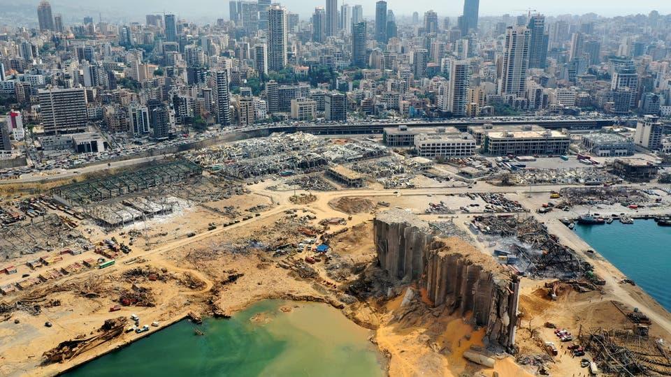 خسائر انفجار مرفأ بيروت تصل إلى 15 مليار دولار