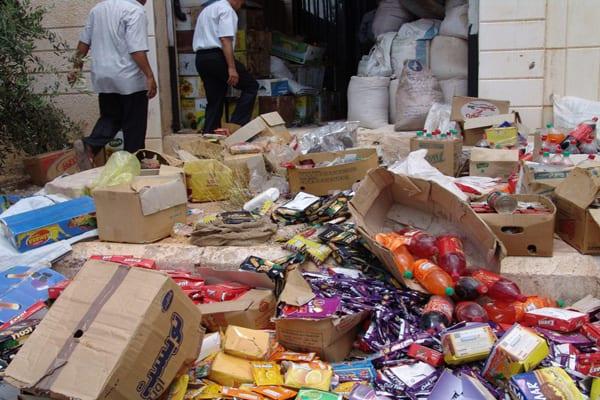 في يوم واحد… كشف 30 طن مواد غذائية مغشوشة بسوريا