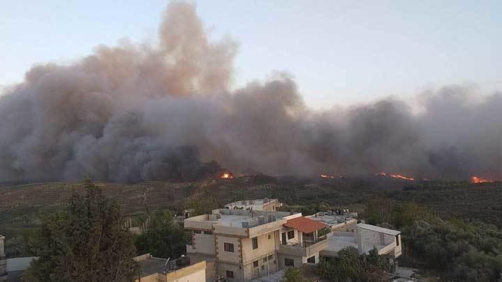 ارتفاع حصيلة ضحايا حرائق الساحل السوري
