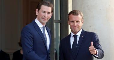 الرئيس الفرنسي والمستشار النمساوي انترنت