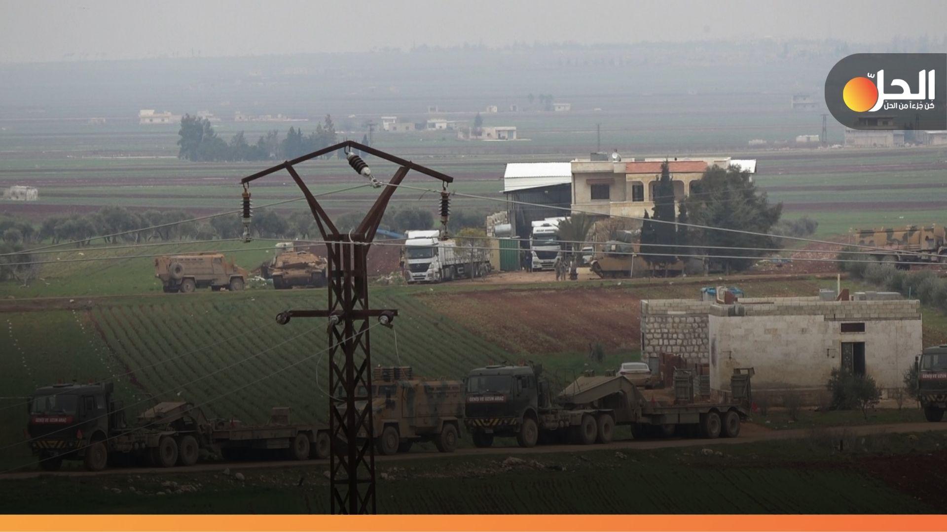 """القوات التركيّة تسحب نقطة المراقبة السادسة من قرية """"الصرمان"""" شرقي إدلب"""