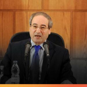 وزير الخارجية السورية فيصل المقداد المصدر انترنت
