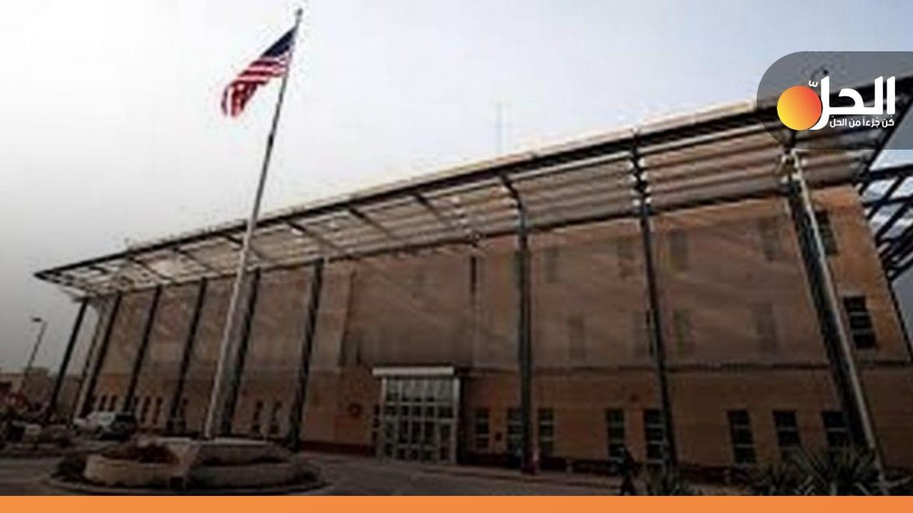 """(فيديو): استهداف """"السفارة الأميركية"""" في بغداد بـ /5/ صواريخ"""