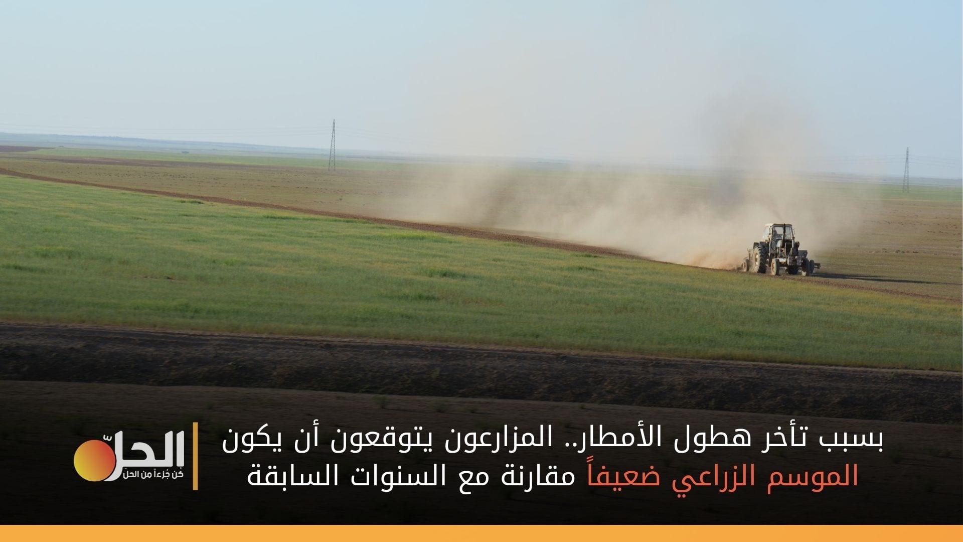 بعد أسابيع من القلق.. مزارعو الحسكة يتنفسون الصعداء وتوقعات بتأثر الموسم الزراعي نظراً لتأخر الأمطار