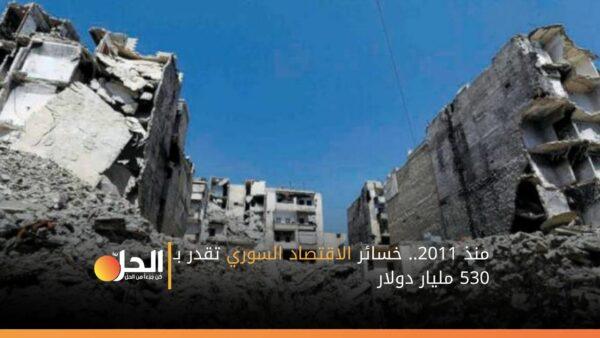 منذ 2011.. خسائر الاقتصاد السوري تقدر بـ 530 مليار دولار